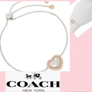 COACH Heart Bracelet Rose Gold/Silver Champagne